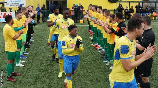 Haringey receive a guard of honour