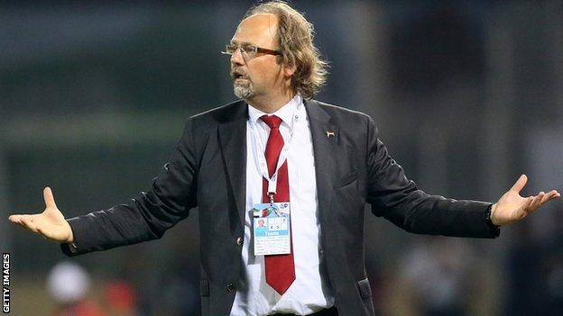 Togo coach Tom Saintfiet