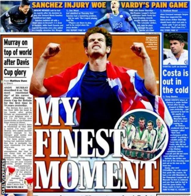 Daily Express back page on Monday