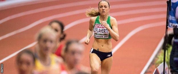 Kerry O'Flaherty was tailed off in her heat in Belgrade