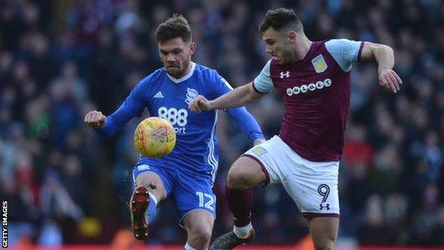 Birmingham captain Harlee Dean at least stopped his old Brentford team-mate Scott Hogan from scoring, but it was still a very disappointing day for Blues at Villa Park