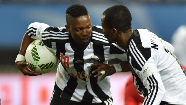 TP Mazembe will hope Rainford Kalaba (left) can produce a big performance