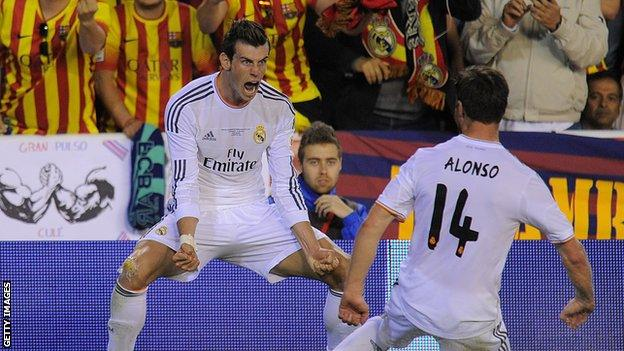 Bale celebrates wonder goal
