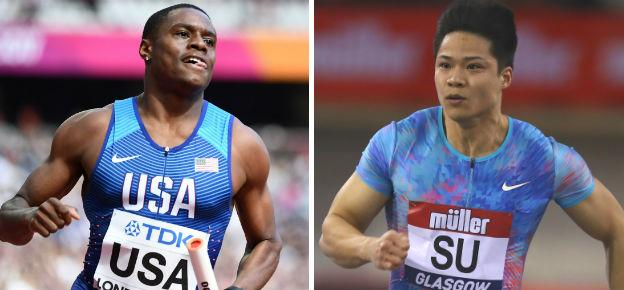 Christian Coleman (left) and Su Bingtian have both had stellar starts to the year