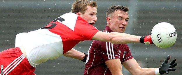 Brendan Rogers in action for Derry in last summer's qualifier against Galway