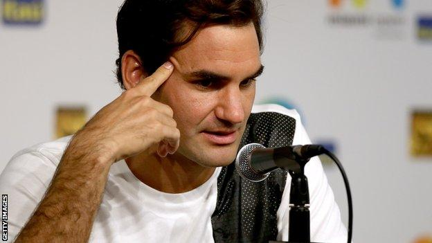 Federer says the injury happened the day after he lost to Novak Djokovic in the Australian Open final