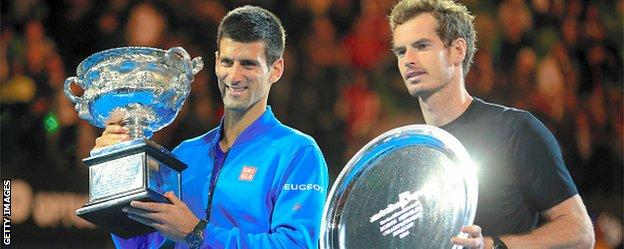 Murray lost his fourth Australian final in 2015, this time to Novak Djokovic