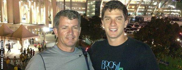 Cairo Santos with his late father Cairo Sr