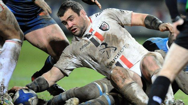 Corey Flynn in action for Toulouse