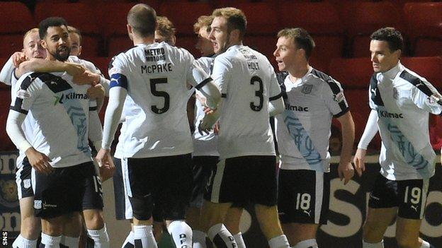 Dundee were ahead after just three minutes at McDiarmid Park