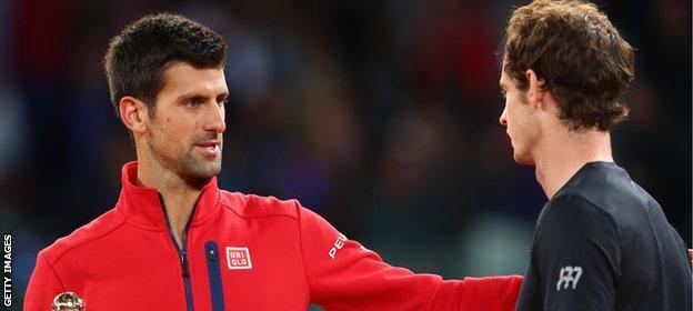 Djokovic (left) and Murray
