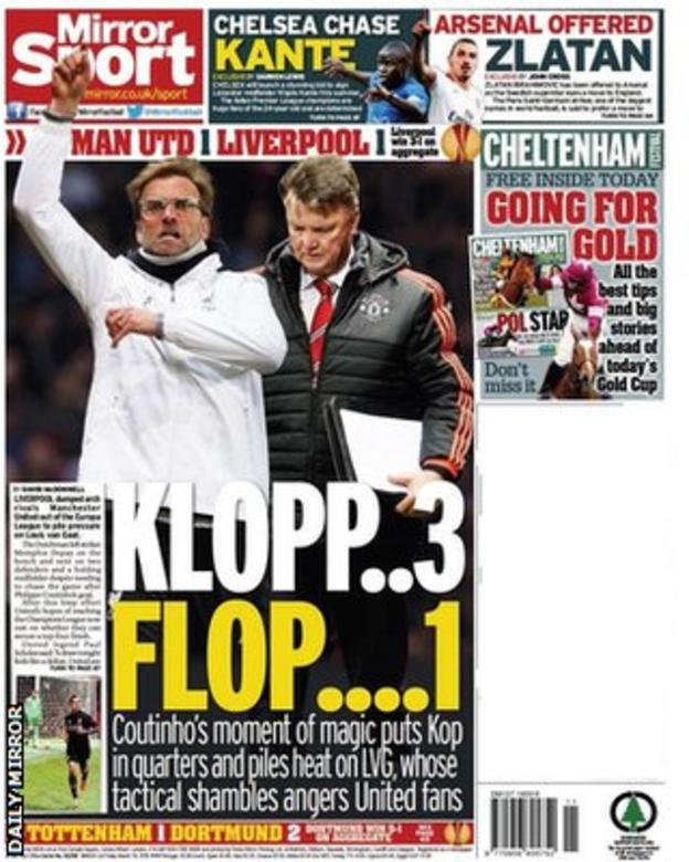 Friday's Daily Mirror