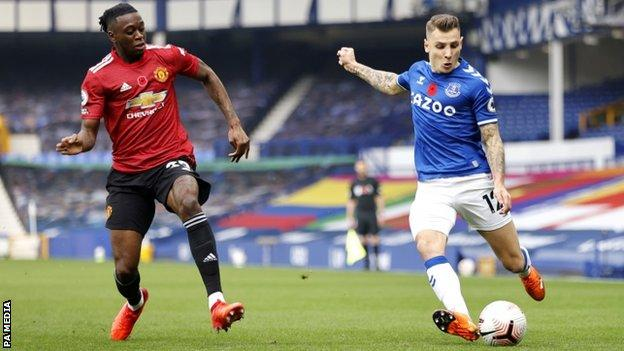 Lucas Digne: Everton waiting on severity of left-back's ankle injury
