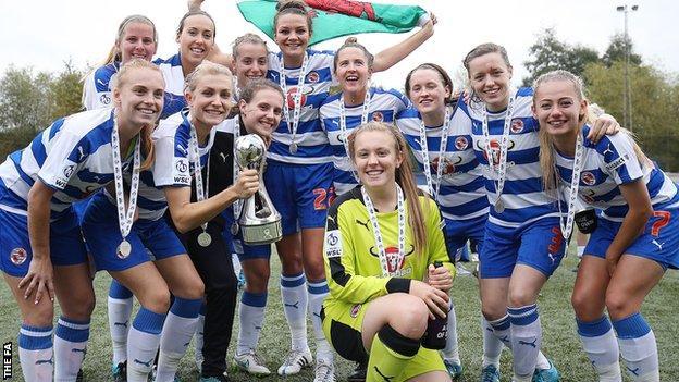 Reading women lift WSL 2 trophy
