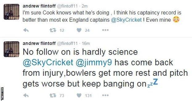 Andrew Flintoff tweet