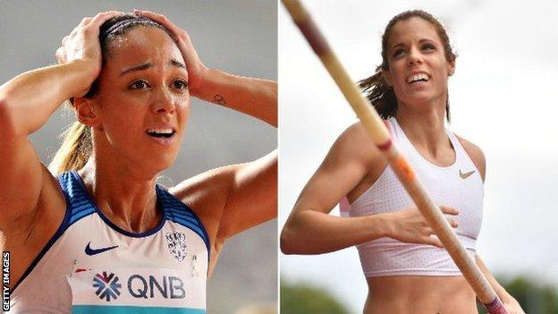Heptathlete Johnson-Thompson (left) and pole vault Stefanidi have expressed concerns on social media