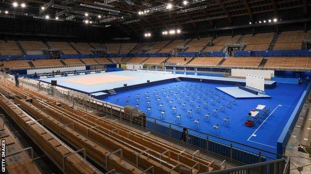General view of the Ariake Gymnastics Centre