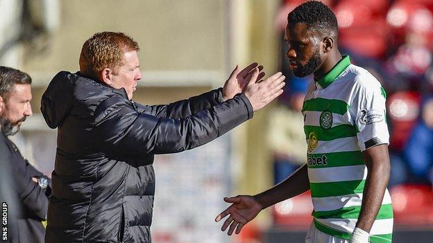Odsonne Edouard is currently Celtic's only fit senior striker