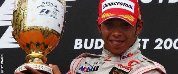 British F1 driver Lewis Hamilton