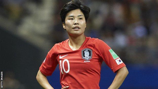 Ji So-Yun in action for South Korea