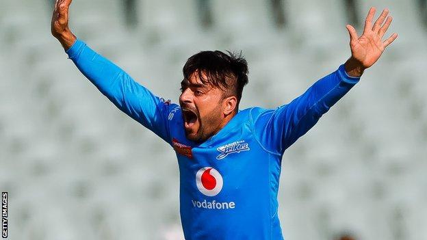 Rashid Khan in action for Adelaide Strikers