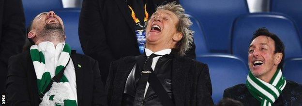Rod Stewart led the celebrations at the Stadio Olimpico