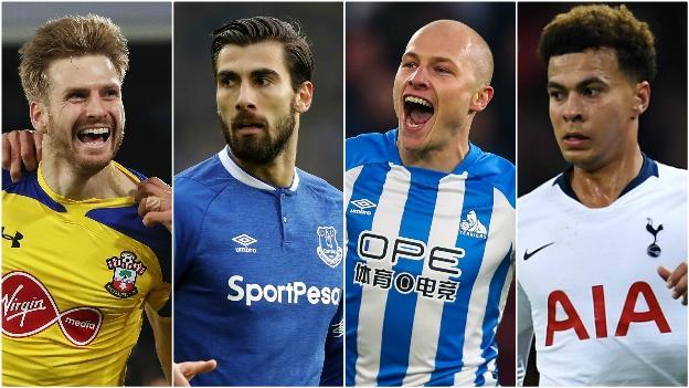 Stuart Armstrong (Southampton), Aaron Mooy (Huddersfield), Andre Gomes (Everton), Dele Alli (Tottenham)