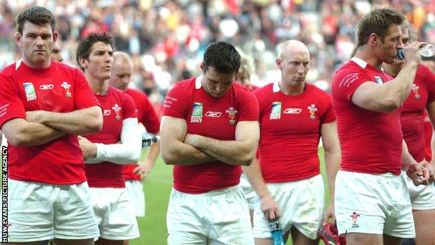 Wales dejected after their 2007 World Cup loss to Fiji