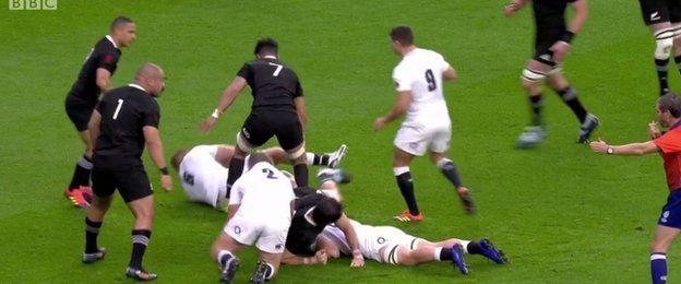 Sam Underhill knocks on
