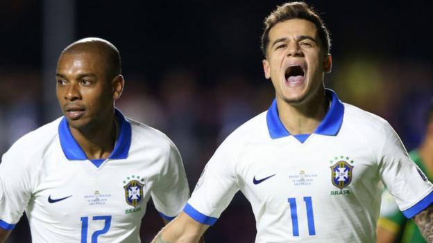 Brazil 3-0 Bolivia: Copa America: Brazil fans jeer hosts despite Coutinho brace in 3-0 win thumbnail