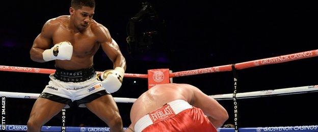 No opponent has managed to take Anthony Joshua beyond three rounds