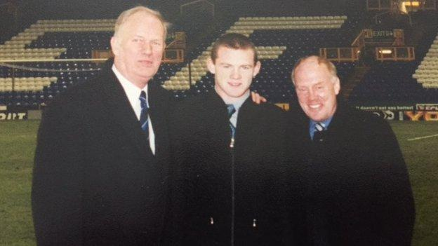 Wayne Rooney and scouts
