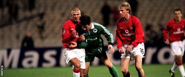 Luke Chadwick and David Beckham