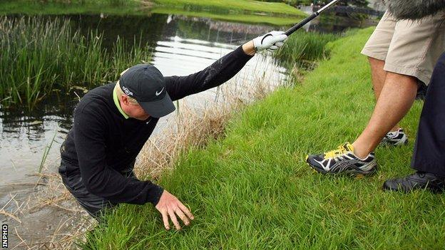 Richard Finch got his feet wet on his way to victory at the 2008 Irish Open.