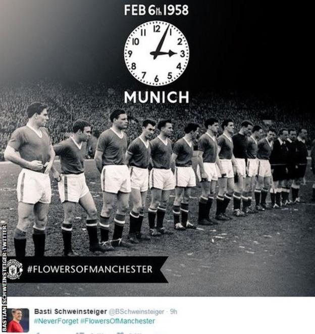 Bastian Schweinsteiger on twitter