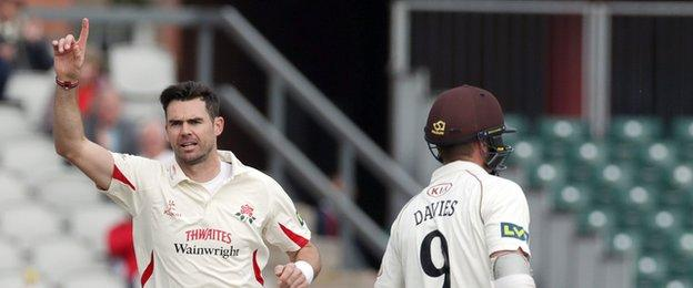 Steven Davies's wicket took James Anderson's career haul to 700 first-class wickets