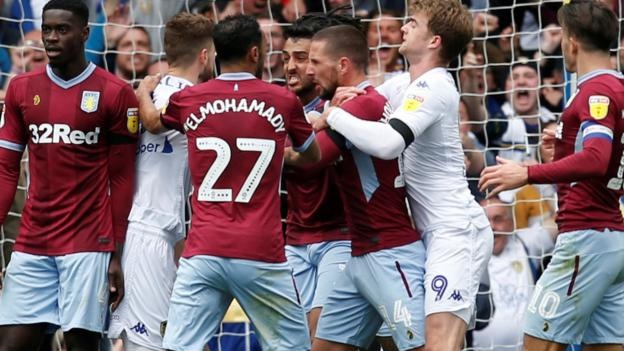 Leeds United 1-1 Aston Villa: Record winning run ends in controversial Elland Road draw thumbnail