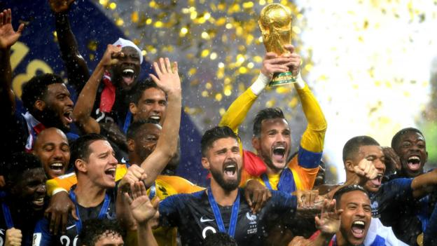 29c895a620f World Cup 2018: France beat Croatia 4-2 in World Cup final - BBC Sport