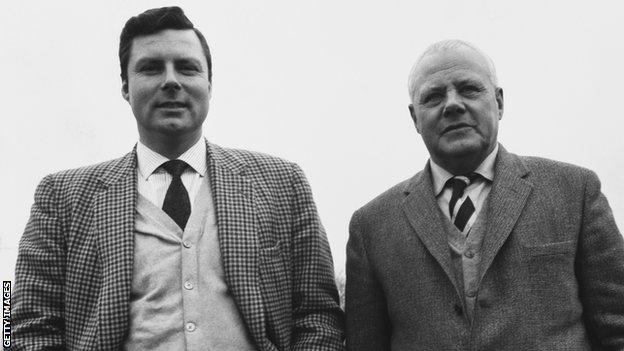 Peter Alliss and his father Percy, unknown date