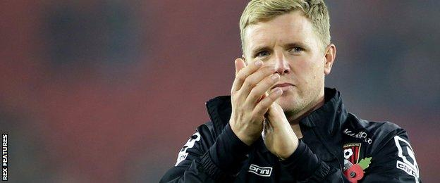 "Despite Bournemouth's recent league struggles, Mostyn is determined to show ""faith"" in manager Eddie Howe"