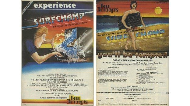 Magazine adverts for Surf Champ claimed it was 'the most realistic sports simulation ever' and listed the future computer surfing competitions that would never take place.
