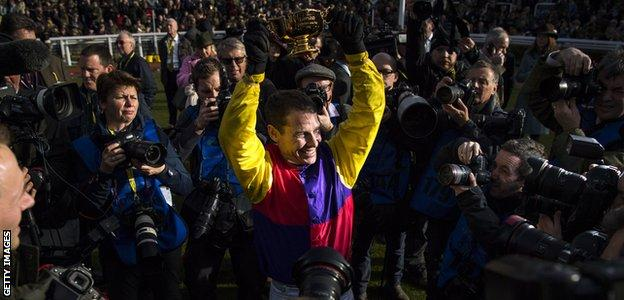 Richard Johnson hadn't won at the 2018 Festival until steering Native River to success in the Gold Cup