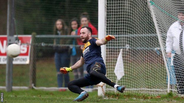 Antrim goalkeeper Chris Kerr