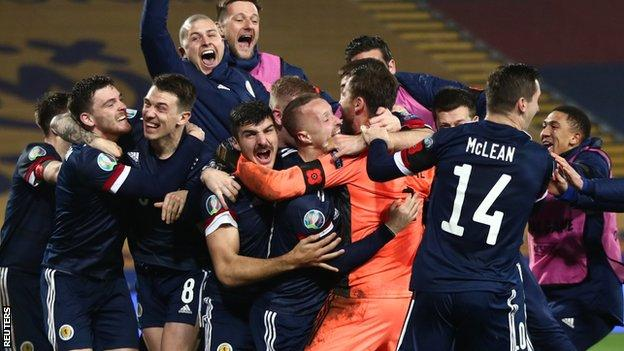 Serbia 1-1 Scotland: Visitors win 5-4 on penalties to end 23-year finals wait