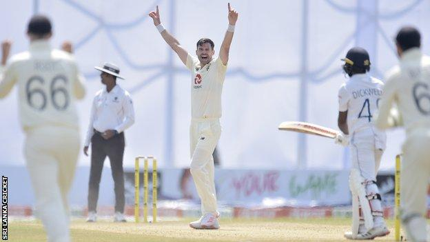 James Anderson celebrates wicket