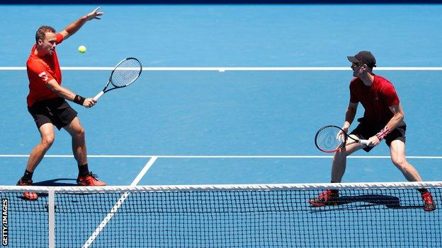 Bruno Soares and Jamie Murray (right) won the Australian Open and US Open in 2016