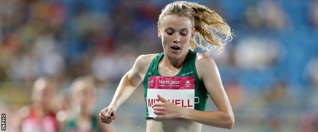 Mitchell set a new Northern Irish record in the 10,000m final at the Commonwealth Games