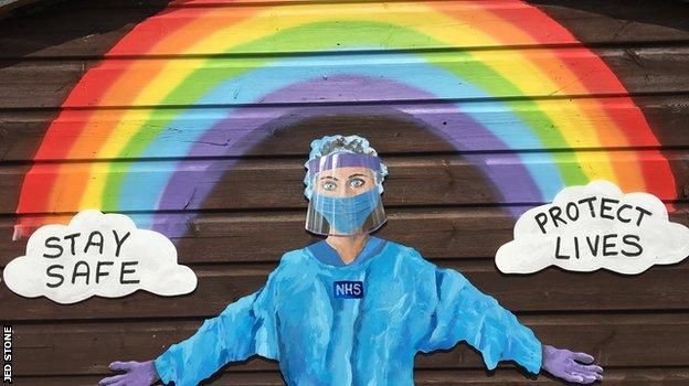 Jed Stone's NHS mural in Newquay