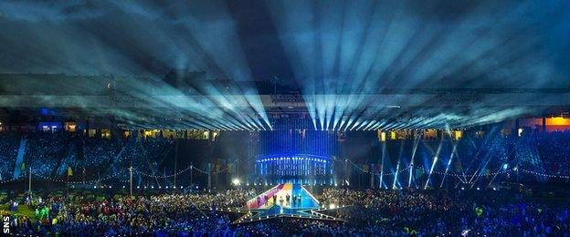 Glasgow 2014 closing ceremony at Hampden
