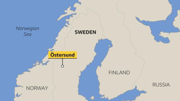 Ostersund map